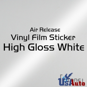 "36"" x 60"" White Vinyl Film Gloss Car Wrap Sticker Decal Sheet With Air Release"