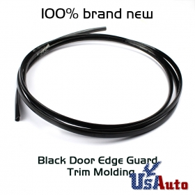 Black Car Autmotive Door Edge Guard Trunk Molding Trim Protectors 15ft