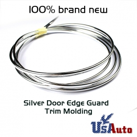 Chrome Silver Automotive Vehical Windows Door Edge Guard Molding Trim Protectors Strip 20ft