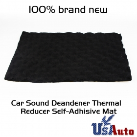 "Sound Absorption Treatment Proof Acoustic Foam Deadener Insulation 12""x39"" 3sqft"