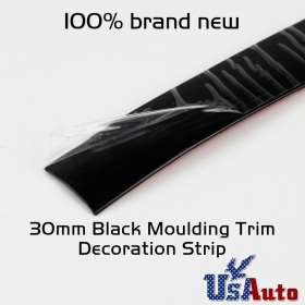 Universal Black Moulding Trim Top Roof Tailgate Trunk Bumper Tailgate Strip 20ft