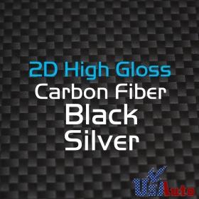 "50""x120"" 2D BLACK GOLD High Gloss Premium Carbon Fiber Vinyl Wrap Sticker Decal"