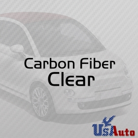 "CLEAR TRANSPARENT TOP GRADE 3D Car Carbon Fiber Vinyl Wrap Sticker Film Roll 12"" x 60"""