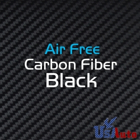 "20""x 60"" 3D Carbon Fiber Vinyl Car DIY Wrap Sheet Roll Film Sticker Decal -Black"