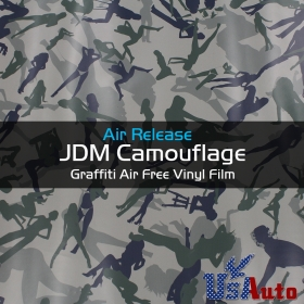 "12"" x 60\"" Racing Car Camo Camouflage Vinyl Wrap Film For BMW Console Panel"