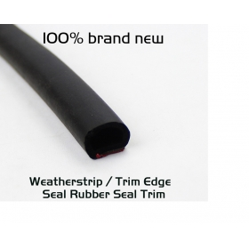 """EdgeSeal"" Universal 9mm Car Door Hood Rubber Seal Strip Weatherstrip Seals Hollow-Per Foot"