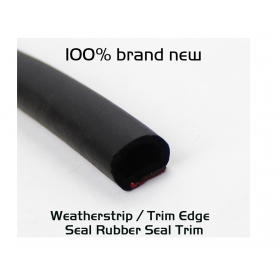 """EdgeSeal"" Self-adhesive 13mm Hollow Out Door Trunk Lip Rubber Seal Weather Strip EPDM Per Foot"
