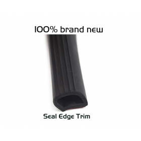 """EdgeSeal"" Car Truck Door 25mm Rubber Seal Strip Weatherstrip Motor Hollow Sealing Trim 1FT"