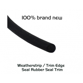 """EdgeSeal"" O Type Black EPDM Rubber Seal Infilling Sound Blocking Weather Strip PVC"