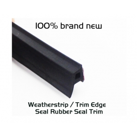 Waterproof Universal Car Door Sealling Trim Rubber Seal P Shape Black Cover 1ft