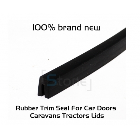 """EdgeSeal"" 1/16"" U Channel Rubber Strip Seal Protective Trim Edging Finish Sold By Per Foot #51"