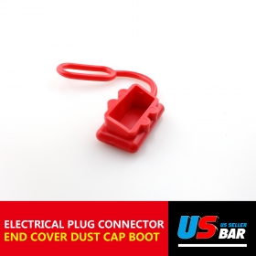 50A 1pcs Dust Cover Red T Hilt Red With Screw Plug Mounting Grey Fast Disconnect