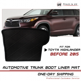 Fit Toyota Highlander 2017 Rear Trunk Tray liner Cargo Luggage Boot Mat Carpet