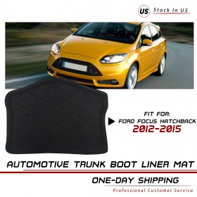 2017 Trunk Cargo Boot Tray Mat Black Liner For Ford Focus Hatchback 2012-15