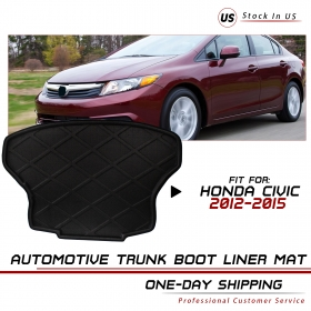For Honda Civic High Quality Auto Trunk Cargo Mat Carpet Floor Protect Fit