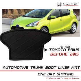 Car Interior Rear Tail Trunk Cargo Floor Mat Protect For Toyota Prius 2003-2014