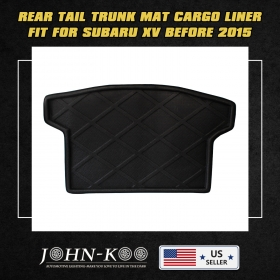 All Weather Waterproof Black Rear Trunk Boot Liner Carpet For Subaru XV 2015
