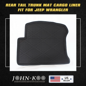 All Weather Waterproof Rear Trunk Boot Liner Carpet For Jeep Wrangler Before 15