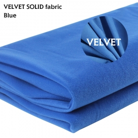 "Blue Velvet Fabric Material Dressmaking Upholstery Cushion Craft Fancy Dress 58"" x 72"""