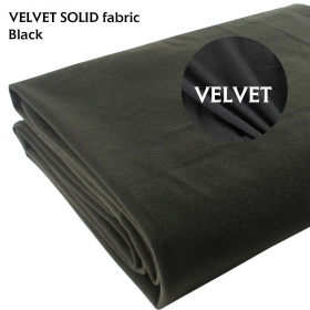 "58"" x 20"" Black Velvet Fabric No Stretch Repair Craft Material Upholstery Cushion Craft Fancy Dress Curtain"