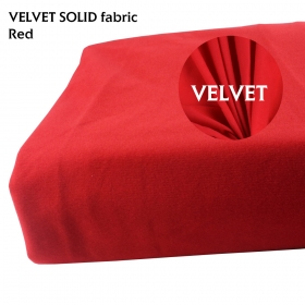 "Super Soft Velvet Fabric DIY Toy Pillow Rug Home Textiles Material Craft Red 58"" x 120"""