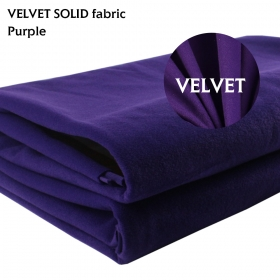 "Upholstery Velvet Fabric Non-Transparent Material Craft Purple 58"" x 72"""