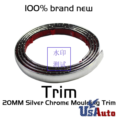 20ft Moulding Rubber Chrome Silver Trim Strip Automobile Car Window Edge 15mm