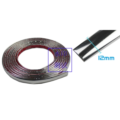 12mm Car Chrome Silver Moulding Trim Roof Strip Window Taillight Bumper 20ft US