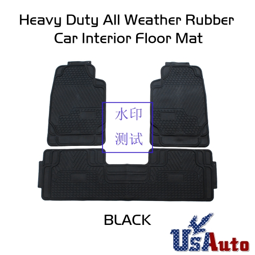 3pcs Set Front Amp Rear Car Floor Mats For All Weather