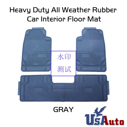 Heavy Duty Black Rubber Car Floor Mat For Toyota Camry