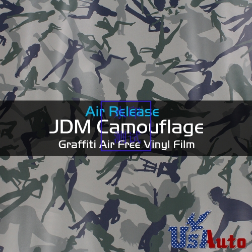 "12"" x 60"" Racing Car Camo Camouflage Vinyl Wrap Film For BMW Console Panel"