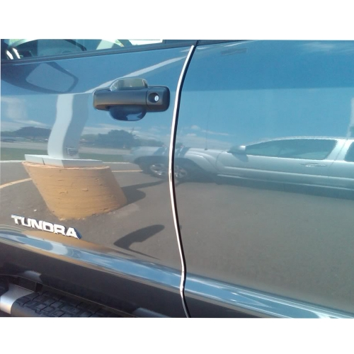 240'' White Car PVC Edge Trim Crash Cover Anti-dust Decorate Door